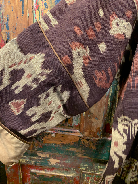 Ikat-Southeast-Asia-Brown-Sleeve