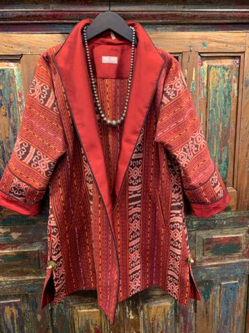 Ikat-Southeast-Asia-Red-Front