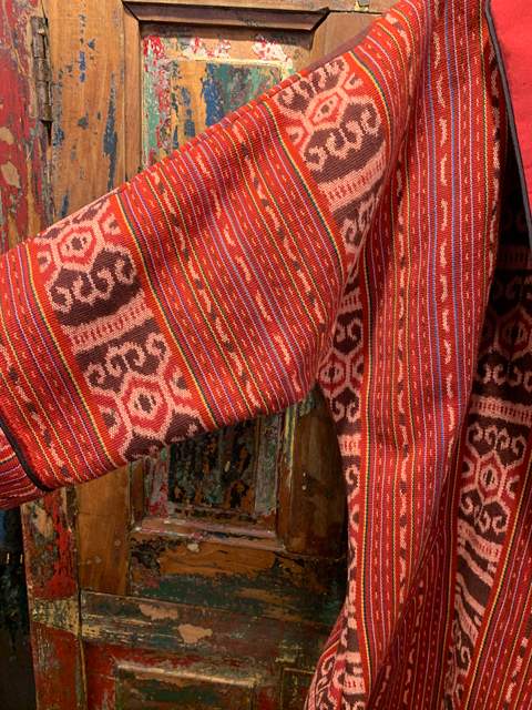 Ikat-Southeast-Asia-Red-Sleeve